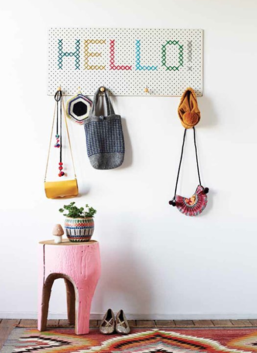 Cross Stitch Pegboard Rack