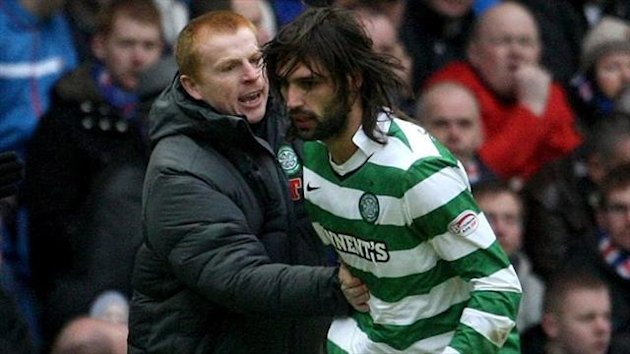 Georgios Samaras, right, believes it is only natural for Neil Lennon, left, to be linked with big jobs