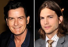 Charlie Sheen, Ashton Kutcher | Photo Credits: Kevin Winter/Getty Images;  Lester Cohen/WireImage