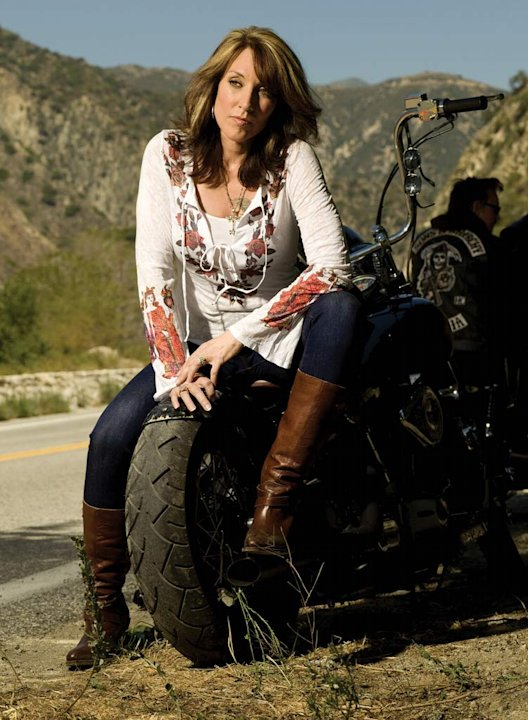 Katey Sagal as Gemma Teller in Sons of Anarchy. 