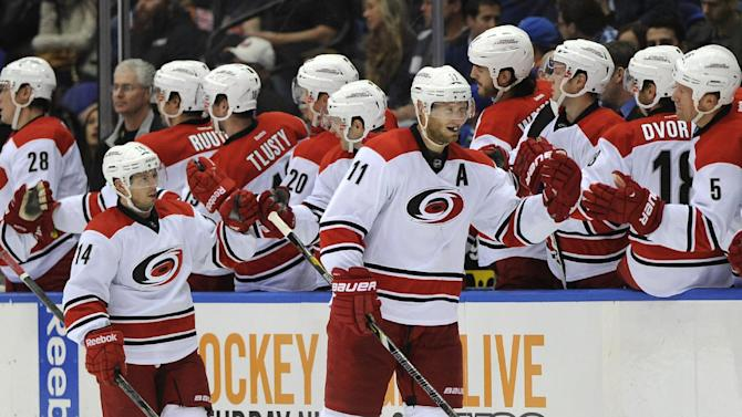 Tlusty scores 2 in Hurricanes' win over Islanders