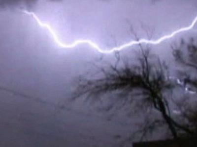 Raw Video: Lightning, Severe Weather in Tucson