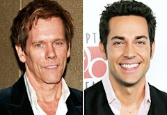 Kevin Bacon, Zachary Levi | Photo Credits: Charles Eshelman/FilmMagic, Barry King/FilmMagic