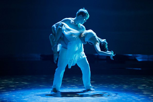 All-Star dancer Neil Haskell and Melanie Moore perform a Contemporary routine to &quot;Total Eclipse...&quot; choreographed by Mandy Moore on &quot;So You Think You Can Dance.&quot; 