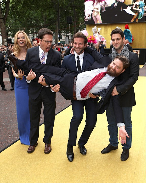 The Hangover UK Premiere 2009 Heather Graham Zach Galifianakis Ed Helms Bradley Cooper Justin Bartha