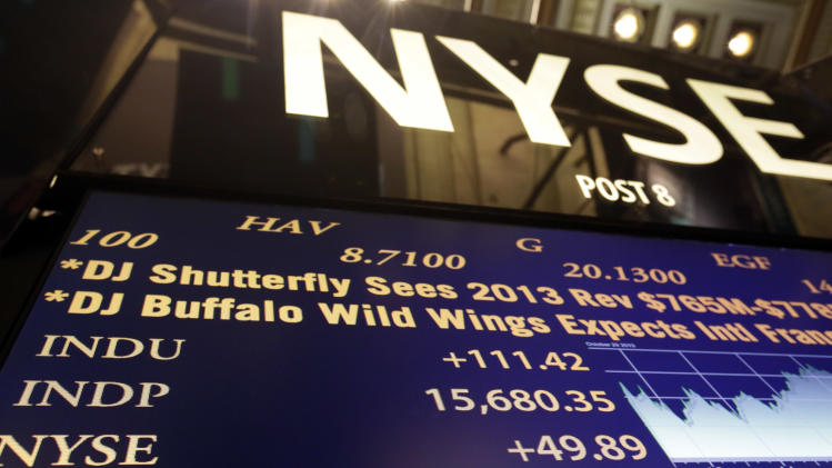 Dow closes at a record high as Fed meeting begins