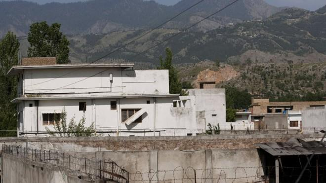 Osama bin Laden's compound inAbbottabad, Pakistan before it was torn down.