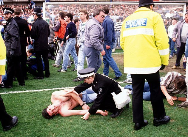 96 were killed and at least 200 injured in the Hillsborough disaster in 1989 (AFP photo)