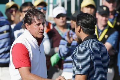 Phil Mickelson taunts Jason Day at Presidents Cup after his monumental rules gaffe