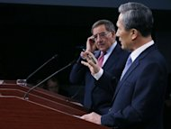 US Defense Secretary Leon Panetta (L) and South Korea&#39;s Minister of National Defense Kim Kwan-jin (R), speak to the media during a news conference at the Pentagon in Arlington, Virginia. North Korea has kept up preparations for a new nuclear test after having carried out previous launches in 2006 and 2009, Kim said