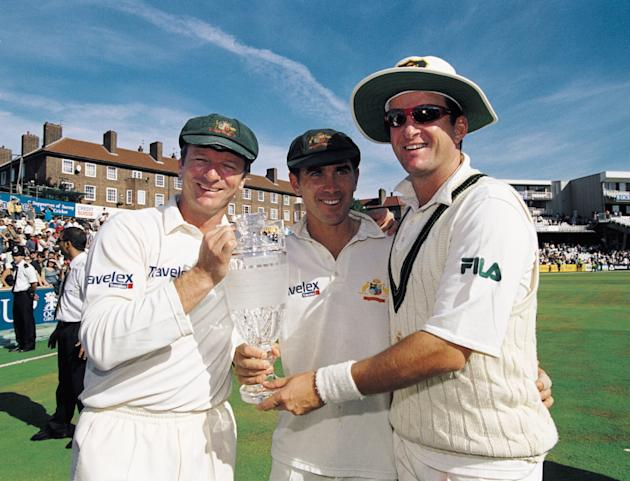 Steve Waugh, Justin Langer and Mark Waugh