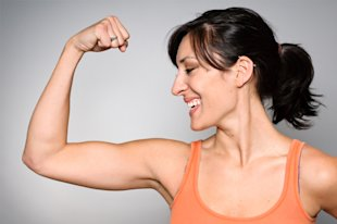 Woman with fit arms