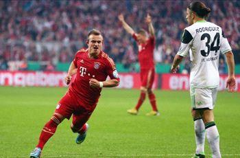 Bayern Munich 6-1 Wolfsburg: Treble still on for rampant Bavarians in Cup win