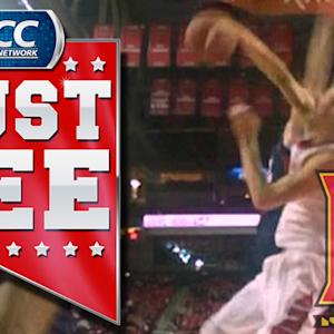 Maryland's Jake Layman Big Block Against FAU | ACC Must See Moment