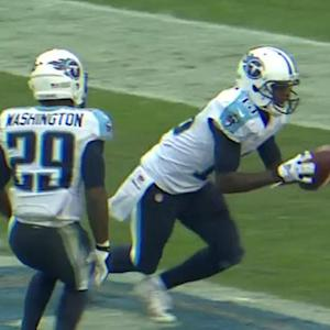 Tennessee Titans wide receiver Kendall Wright 6-yard touchdown reception