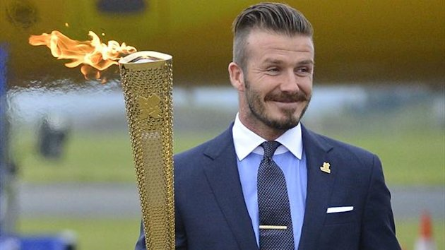 2012 David Beckham Olympic torch