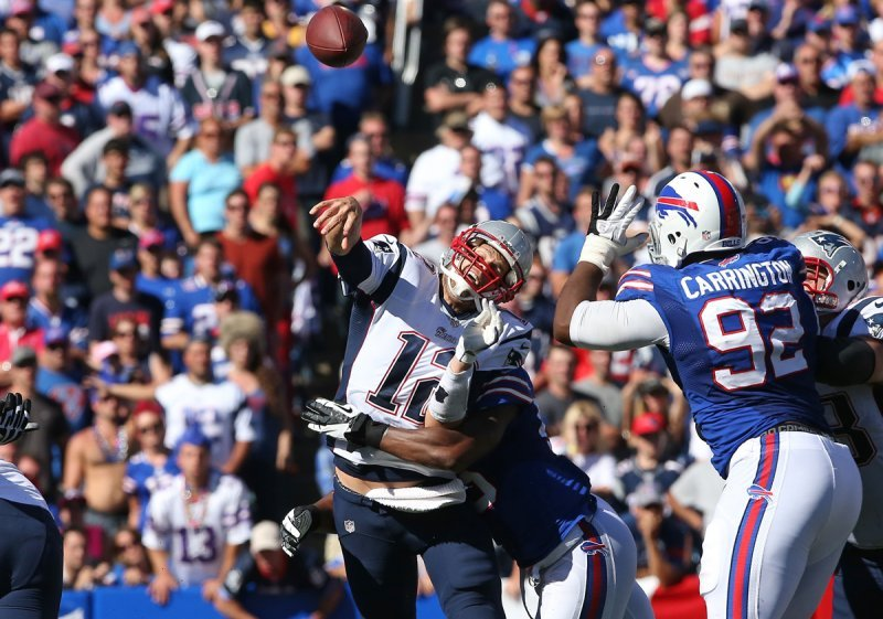 tom brady sack bills patriots