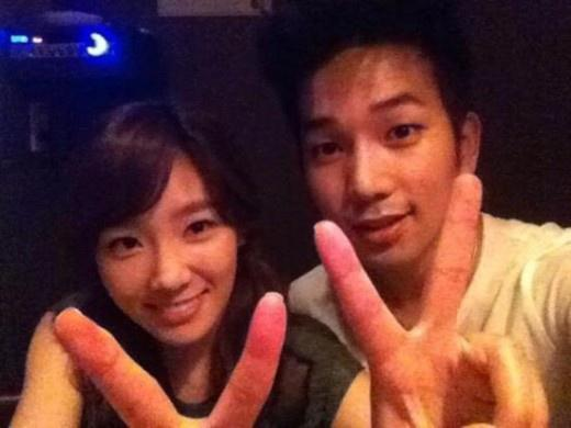TaeYeon reveals a photo with G.O