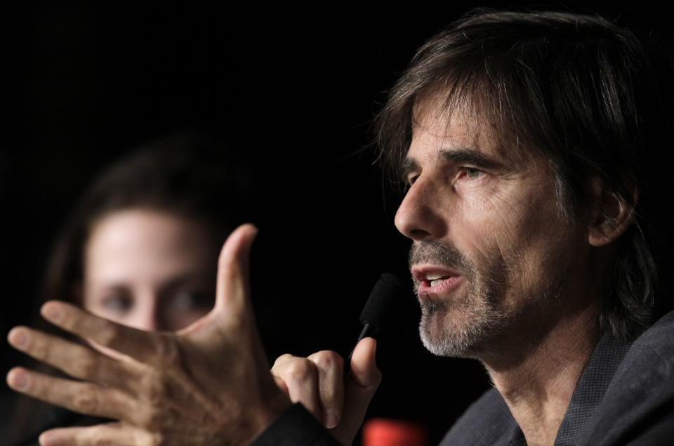 Director Walter Salles speaks during a press conference for On the Road at the 65th international film festival, in Cannes, southern France, Wednesday, May 23, 2012. (AP Photo/Francois Mori)