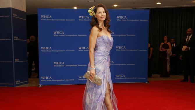 Actress Ashley Judd arrives for the annual White House Correspondents' Association dinner in Washington