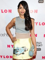 Freida Pinto revs her fashion engine with the help of pastels and Prada