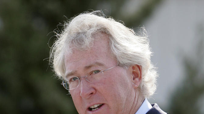 FILE - In a Sept.8, 2009 file photo, Chesapeake Energy Corp. CEO Aubrey McClendon speaks during the opening of a compressed natural gas filling station in Oklahoma City. Chesapeake Energy says that it is ending a program that allowed McClendon to take personal stakes in the wells it drills as part of his compensation package. Its board will also review financing arrangements between McClendon and any outside groups that may have done business with Chesapeake in the past. (AP Photo, File)