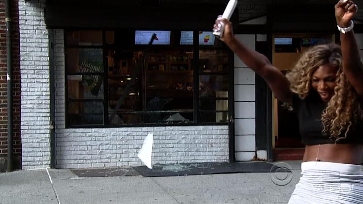 Serena Williams Shatters Storefront Window