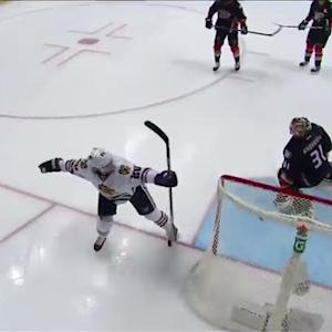 Kane fakes shot to set up Saad for easy finish