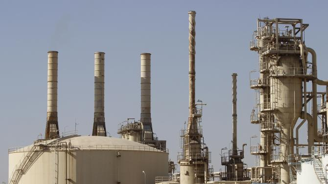 A general view shows Iraq's Basra Gas Company (BGC) in Basra, southeast of Baghdad
