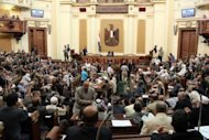 A general view of the first session of the Egyptian parliament in Cairo on July 10. Egypt's President Mohamed Morsi will respect a court ruling overturning his decree for the dissolved Islamist-dominated parliament to convene, his office said on Wednesday amid a power struggle with the military
