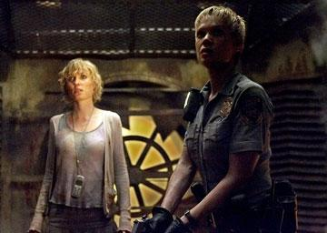 Radha Mitchell and Laurie Holden in TriStar Pictures' Silent Hill