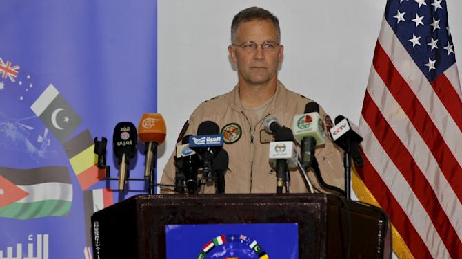 Mattson speaks during a news conference in Amman