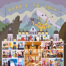 2014's Biggest Moments Get 'Grand Budapest Hotel' Treatment