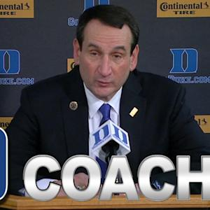 Duke's Coach K Talks Big Win Over Rival UNC