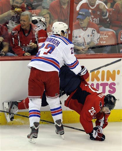 Capitals beat Rangers 3-2 to knot series at 2