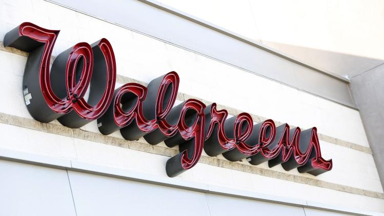 The sign of a Walgreens store is pictured in Pasadena