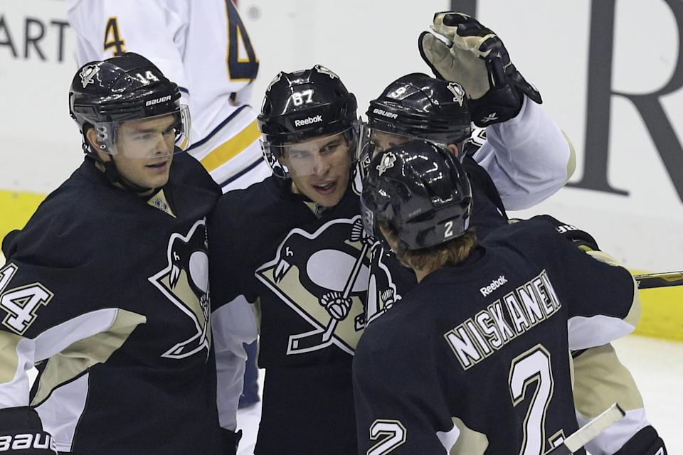 Crosby, Fleury lead Penguins past Sabres 4-1