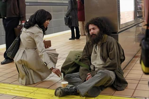 Kerry Washington as Olivia Pope and Guillermo Diaz as Huck in ABC's 'Scandal' -- ABC