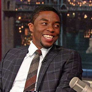 """Get On Up"" Star Chadwick Boseman Talks Dancing Like James Brown on David Letterman"