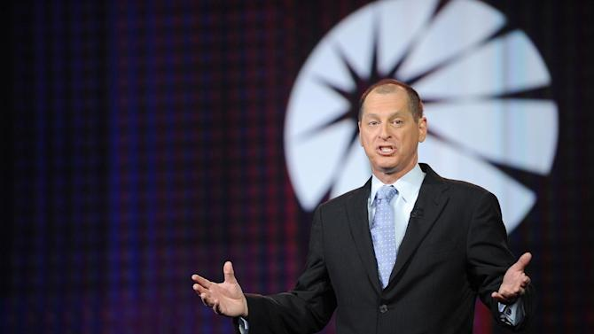 IMAGE DISTRIBUTED FOR PANASONIC - Gary Shapiro, president and CEO of the Consumer Electronics Association seen during the Panasonic keynote presentation at the International Consumer Electronics Show 2013, on Tuesday, Jan. 08, 2013, in Las Vegas, NV. (Photo by Al Powers/Invision for Panasonic/AP Images)