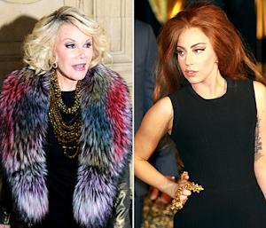 "Joan Rivers Tells Lady Gaga to ""Lighten Up"" Amid Feud With Sharon, Kelly Osbourne"