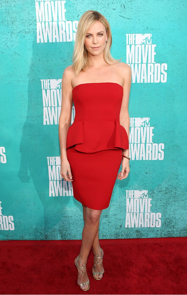 Charlize Theron in Lanvin at the 2012 MTV Movie Awards