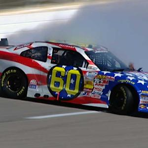 Pastrana saves car after qualifying spin