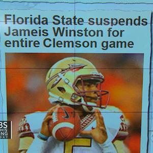 Headlines: Florida State suspends Jameis Winston for entire Clemson game