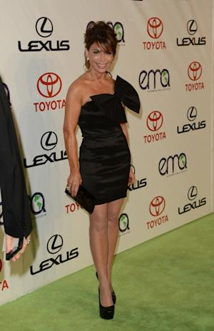 Paula Abdul rocks a mini dress at the 2012 Environmental Media Awards at Warner Bros. Studios in Burbank, Calif., on September 29, 2012 -- Getty Premium