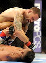 Frankie Edgar [top] looked sharp in his last fight. (Jayne Kamin-Oncea-USA TODAY Sports)