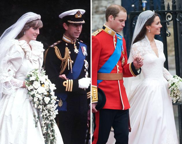 The world's two most famous wedding dresses
