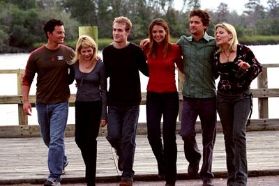 Kerr Smith, Michelle Williams, James Van Der Beek, Katie Holmes, Joshua Jackson and Busy Philipps in WB's Dawson's Creek