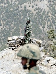 &lt;p&gt;Pakistani soldiers are seen standing guard in the mountains of Shawal region, along the Pakistan-Afghanistan border, in 2006. A US drone strike targeting two militant vehicles early Sunday killed at least four rebels in the restive region, according to security officials.&lt;/p&gt;