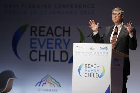 Gates, UK take lead in $7.5 billion pledge for children's vaccines